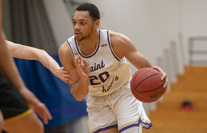 Men's Basketball Falls in NE10 Play at Franklin Pierce