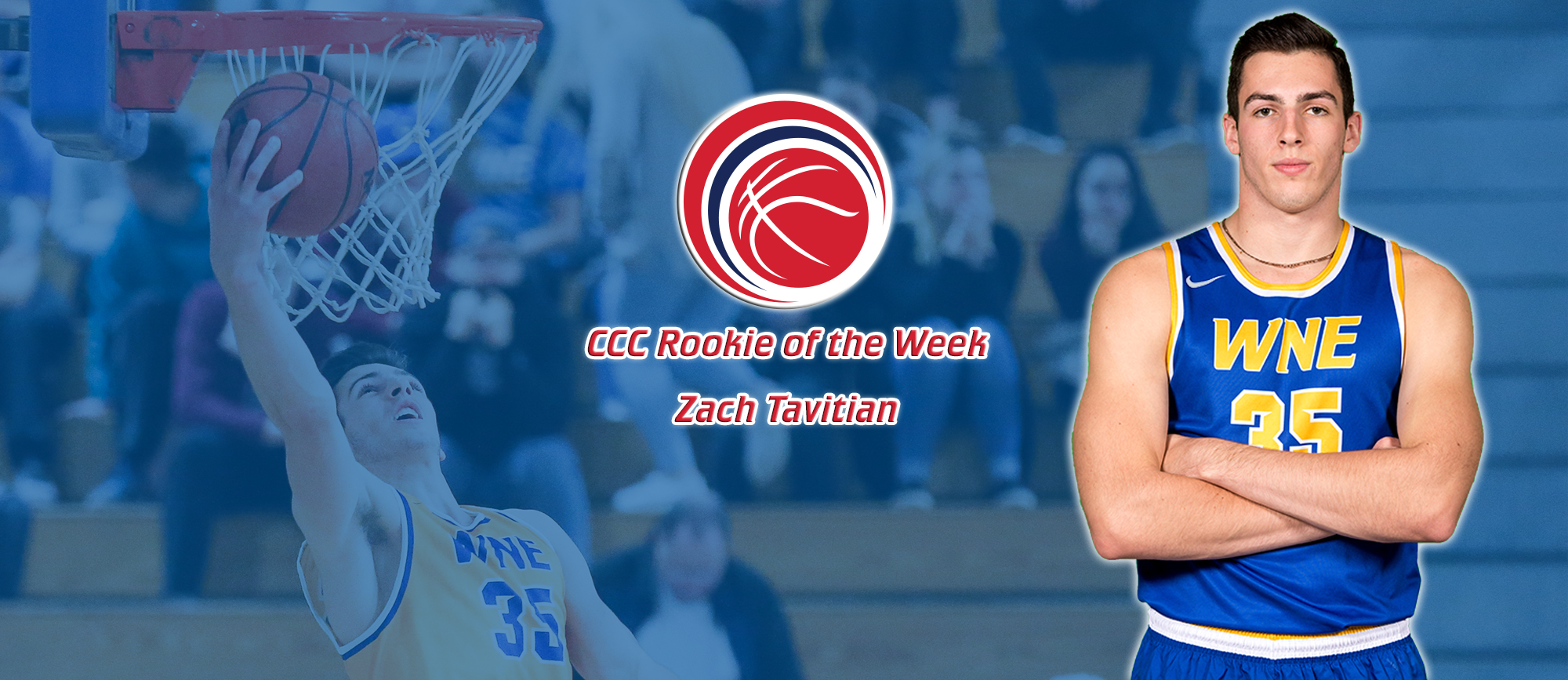 Zach Tavitian Collects Fourth CCC Rookie of the Week Honor
