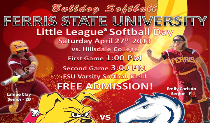 Ferris State University Softball To Host Little League Day