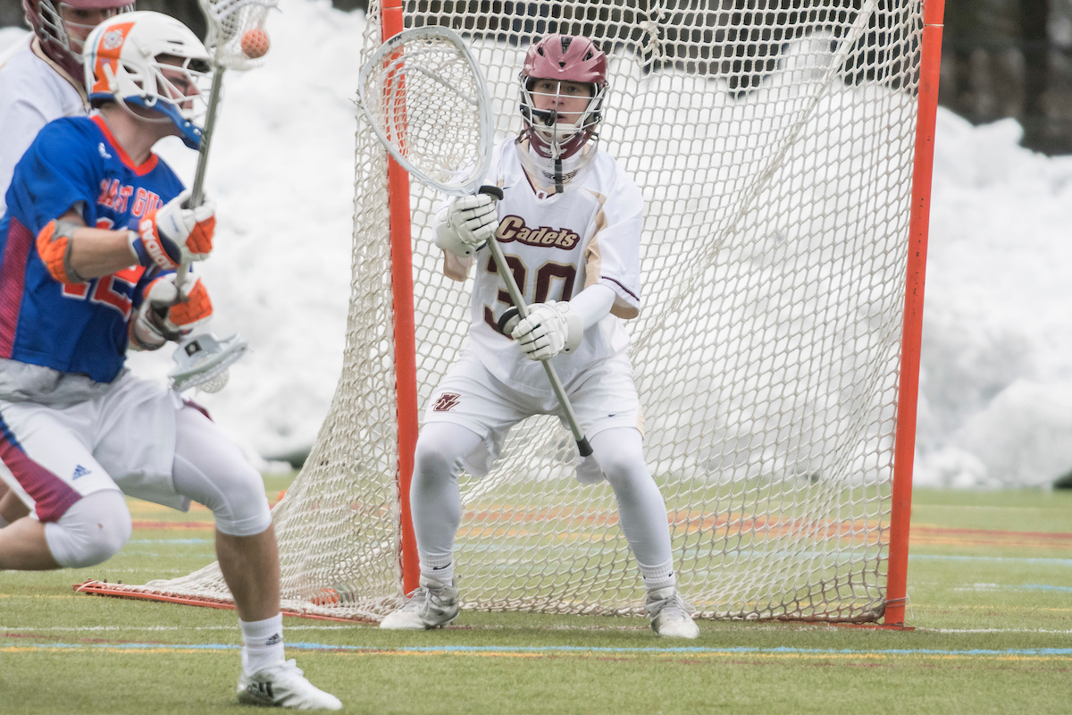 Men's Lacrosse: Cadets close regular season with seventh straight win, defeat AMCATS, 17-6