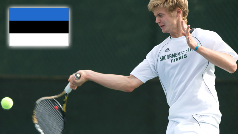 MEN'S TENNIS' MAREK MARKSOO SELECTED TO COMPETE FOR ESTONIA IN THE DAVIS CUP