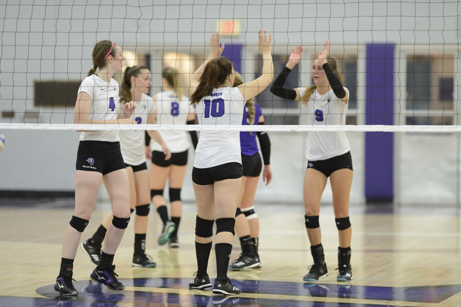 Purple Knights Sweep Past Mercy In ECC Volleyball Action