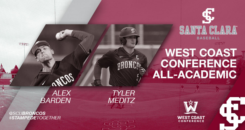 Two Baseball Student-Athletes Earn WCC All-Academic Honors