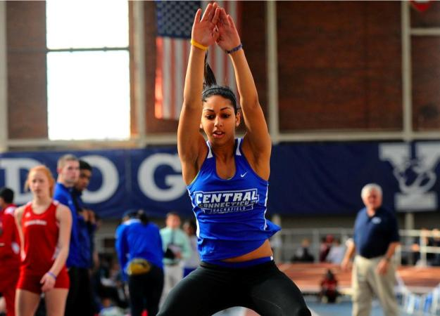 Saunders Wins High Jump at AIC