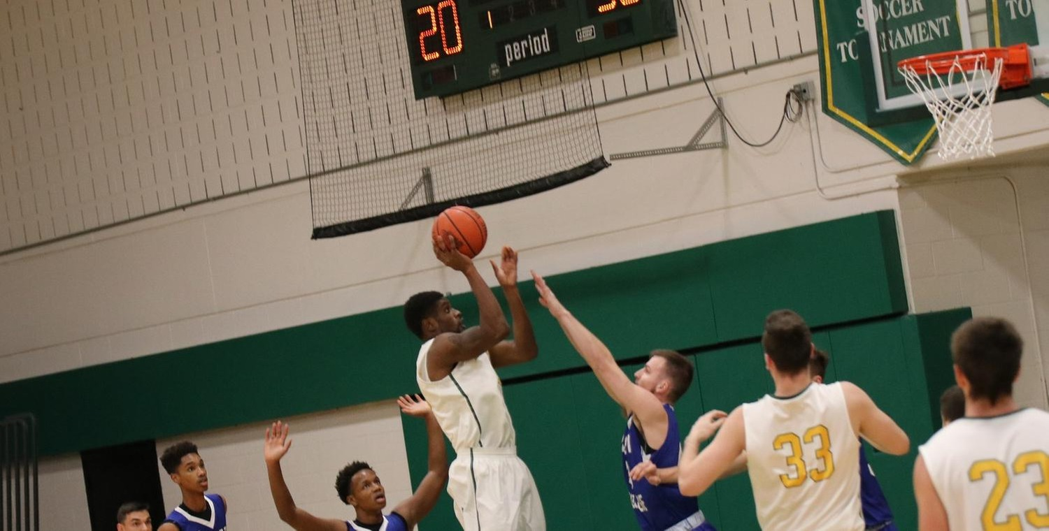 Trevor Powell (20) led with 22 points and 11 rebounds against Cazenovia on Saturday -- Photo by Rohel Duncan
