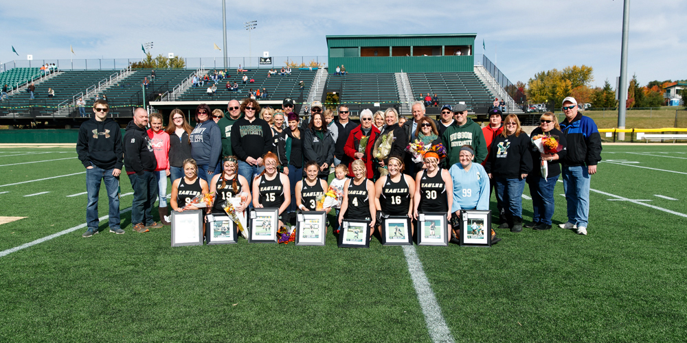 Field Hockey Shutout New England College on Senior Day