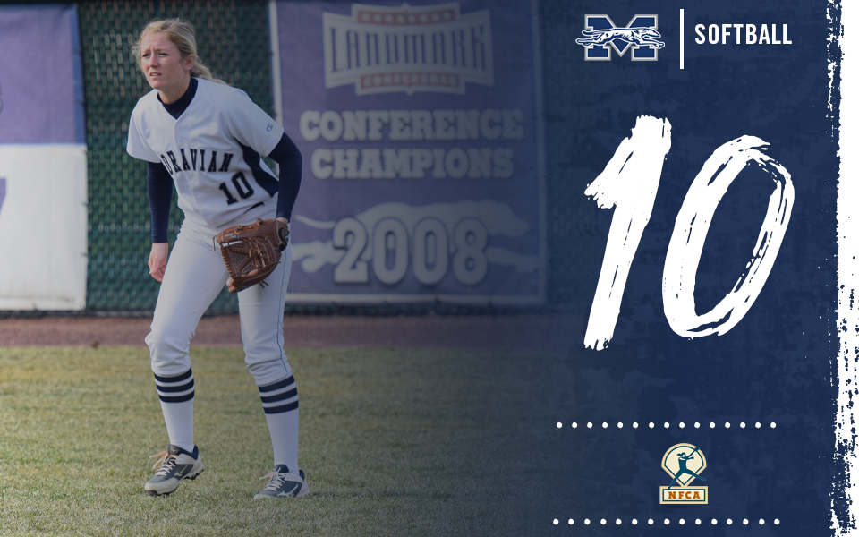 Moravian softball ranked 10th in latest NFCA DIII Top 25 Poll.