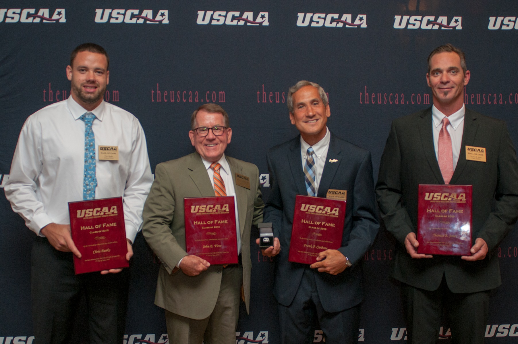 Former HVIAC Coaches Frank P. Carbone and John View Inducted into USCAA Hall of Fame