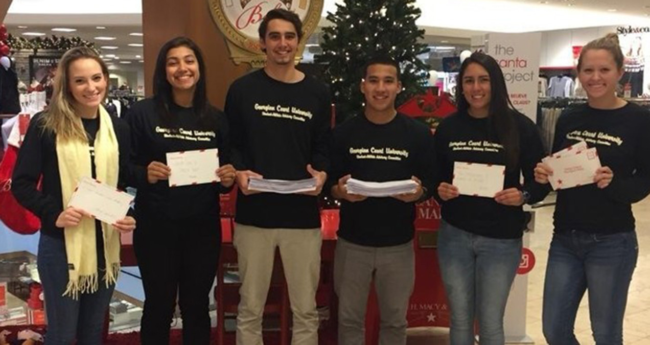 "Georgian Court SAAC Raises Over $600 for Make-A-Wish through Macy's ""Believe"" Campaign"