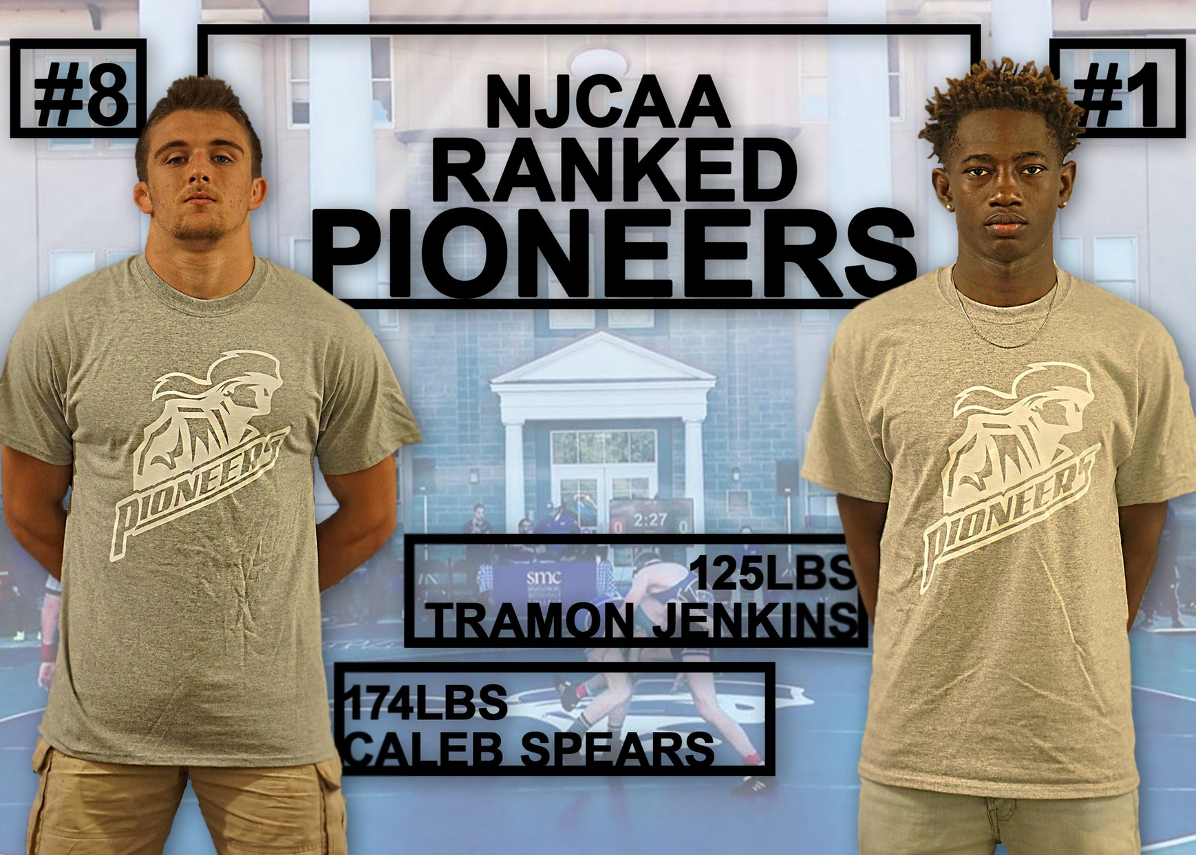 Two Wrestlers Ranked in Latest NJCAA Polls
