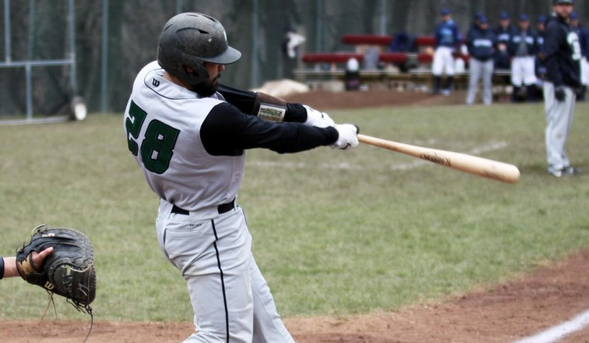 Copyright 2018; Wilmington University. All rights reserved. File photo of Nick Macey who batted 2-for-3 in game two against Felician. Taken by Dan Lauletta on March 28, 2018 at Jefferson.
