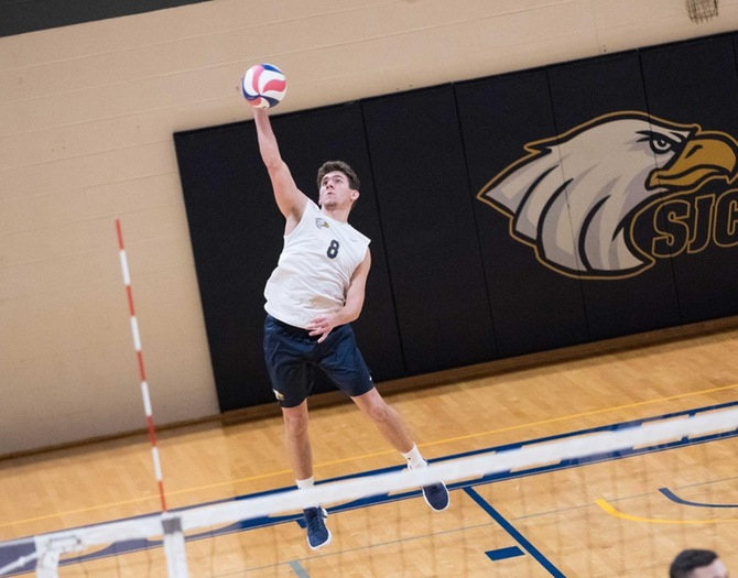 Men's Volleyball Held by #3 Stevens