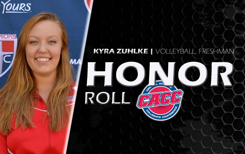 Kyra Zuhlke Named To Weekly CACC Honor Roll
