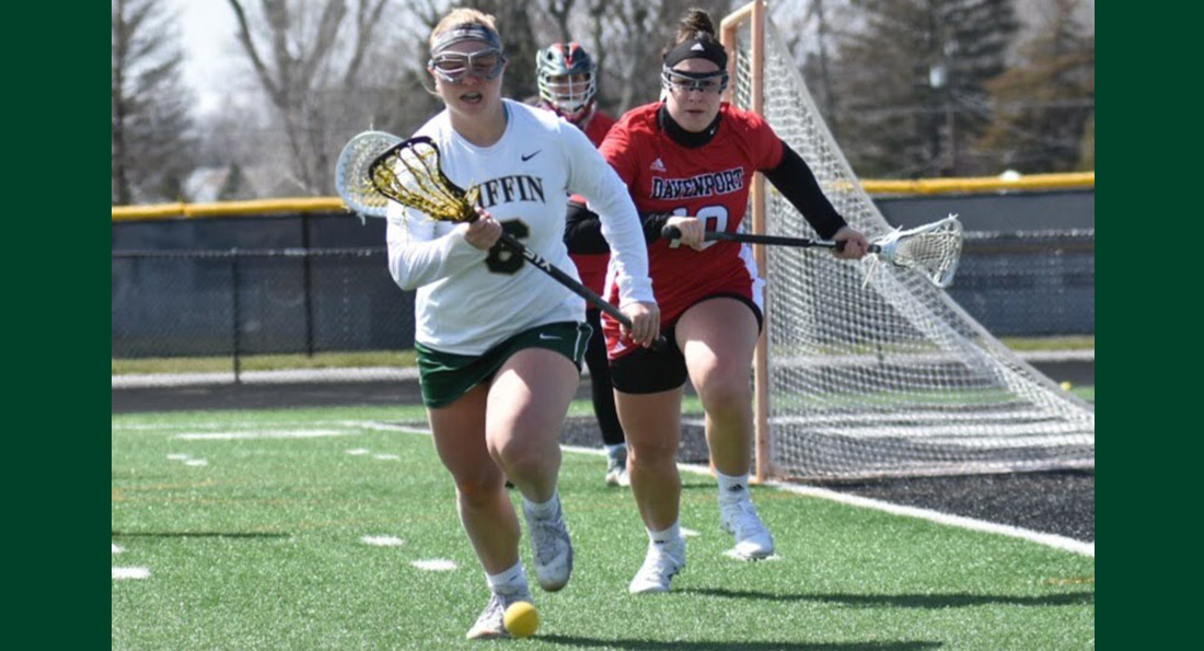 Amanda Flotteron had 2 goals and 3 assists in the win at Davenport.