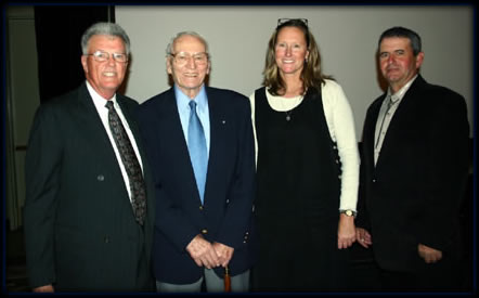 The College of the Canyons Athletic Hall of Fame Class of 2005, (from left to right) Lee Smelser, Chuck Rheinschmidt, Linda Chisholm and Clint McKinney.