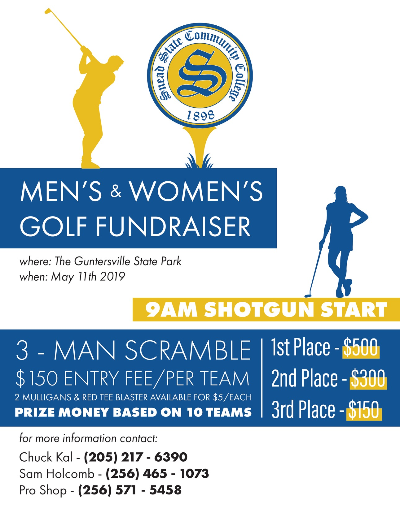 Golf tournament flyer information