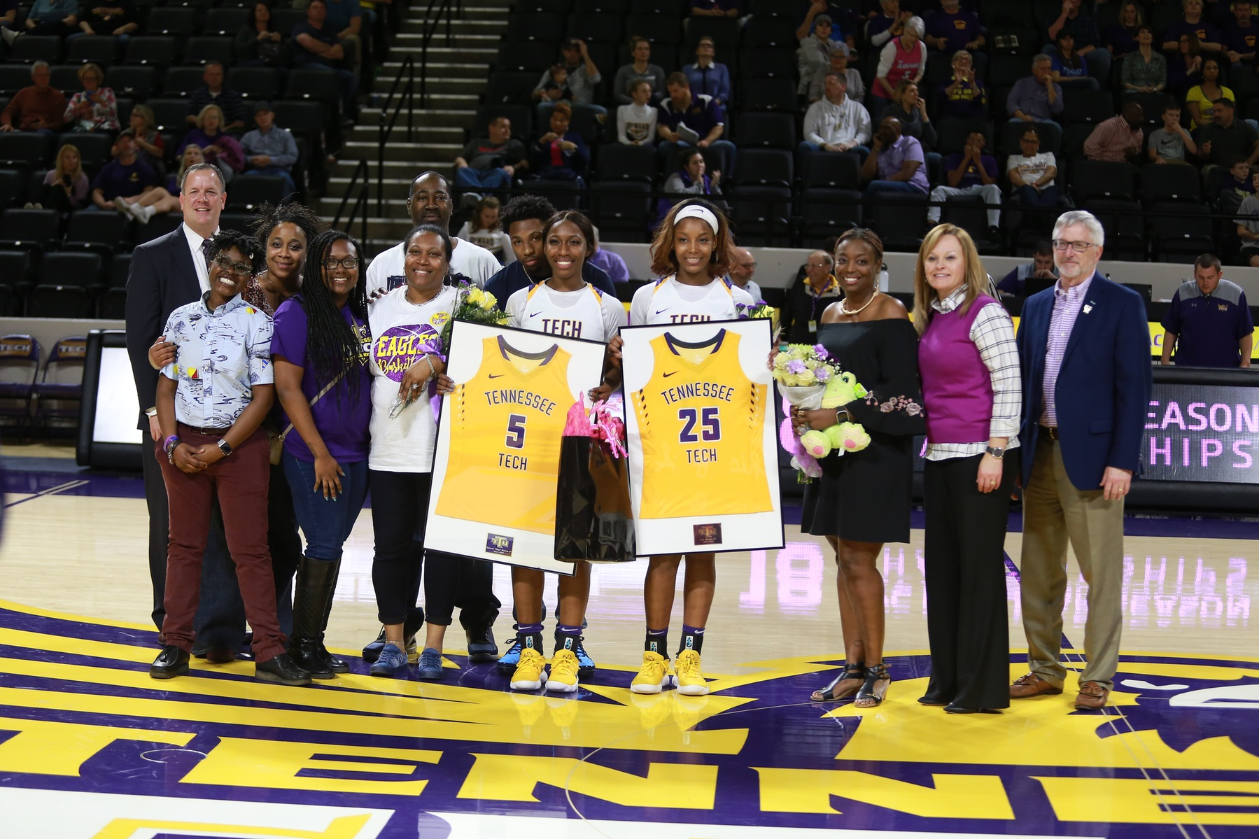 Tech honors seniors in final game of the season