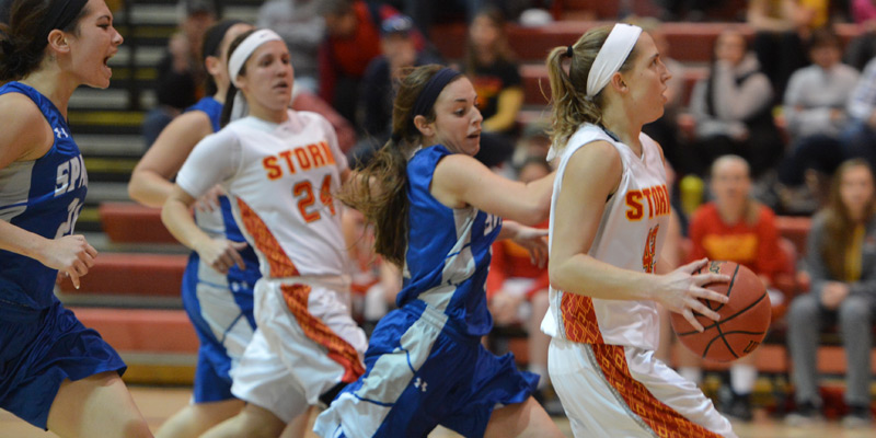 Storm women cruise past Dubuque, remain perfect at home