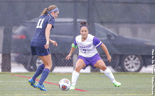 Senior Jasmine Sconciafurno was part of a defensive unit that allowed just one shot on Saturday.
