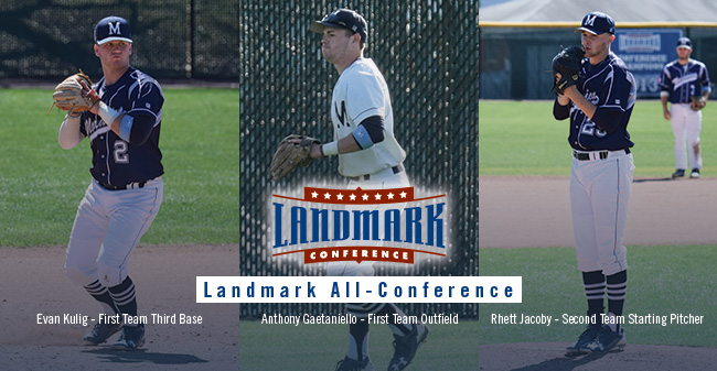 Gaetaniello, Kulig & Jacoby Named to Landmark Baseball All-Conference Teams
