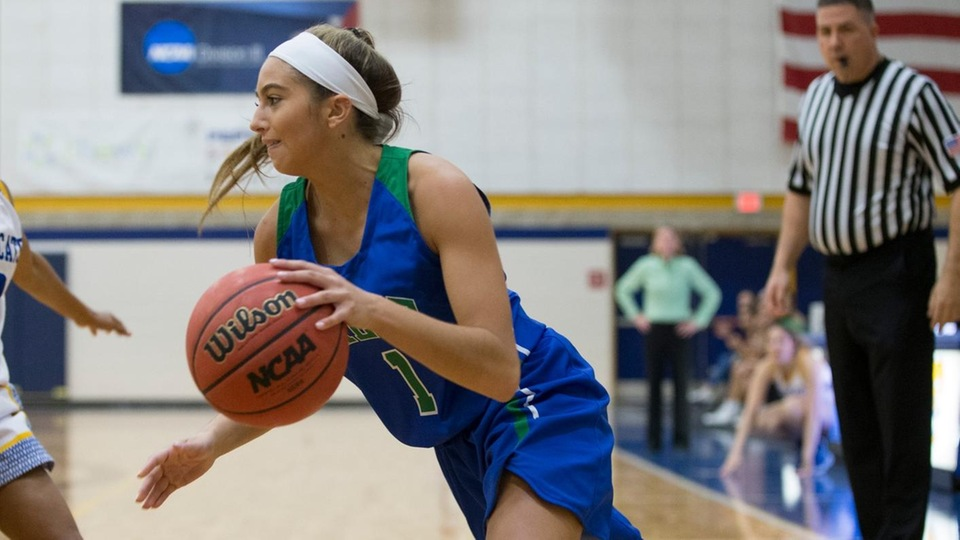 Torie Scorpio scored 18 points in Salve Regina's 55-45 road win against Gordon. (Photo by Rob McGuinness)