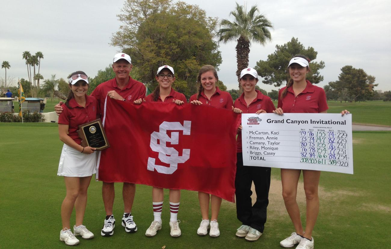 Women's Golf Claims Share Of Grand Canyon Invitational Title