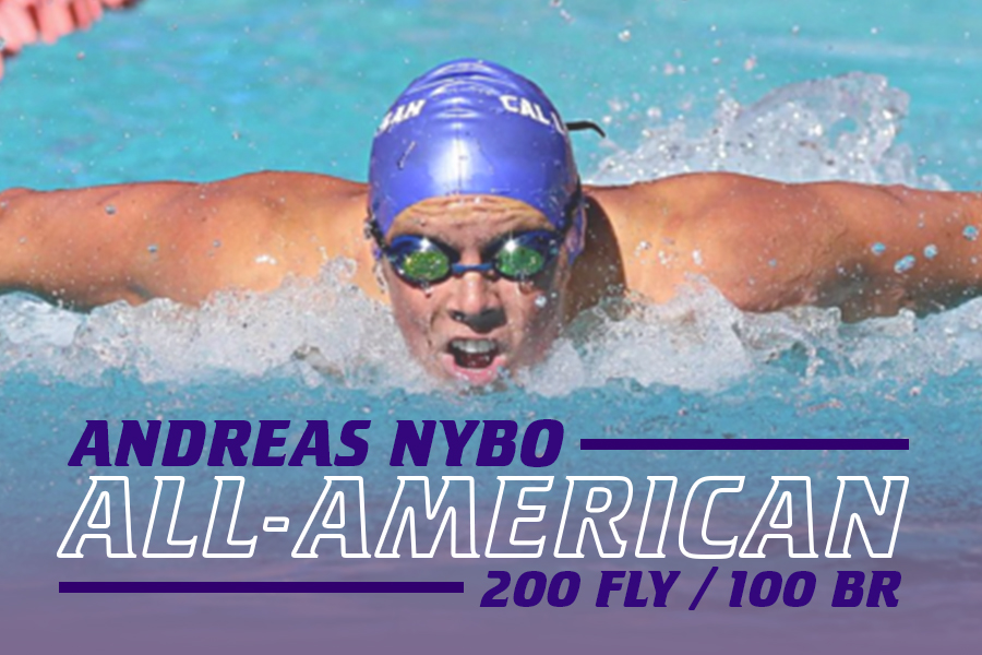 Nybo earned First Team All-America in the 200 fly (7th) and was Honorable Mention All-America in the 100 breast (15th).