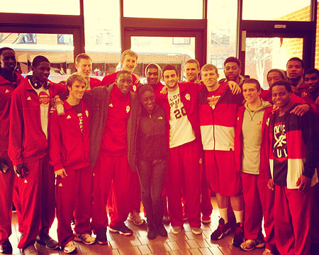 Indiana men's basketball team group picture