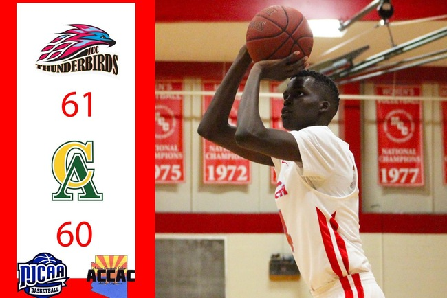 Jok Jok Completes Four Point Play with 6.1 Seconds to Secure 61-60 Victory for T-Birds