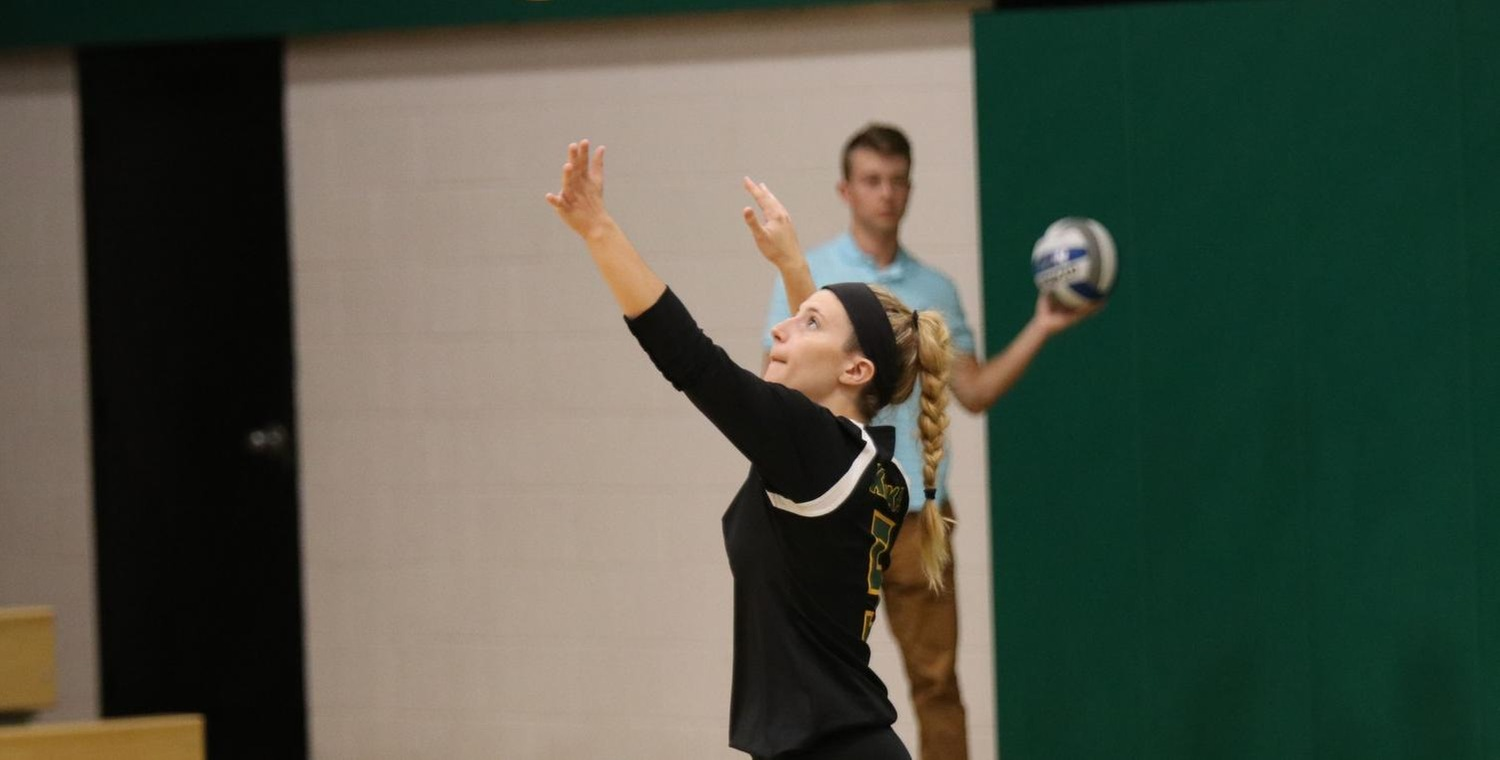 Lauren Kuipers (5) had two of Keuka's 12 aces on Tuesday -- Photo by Rohel Duncan