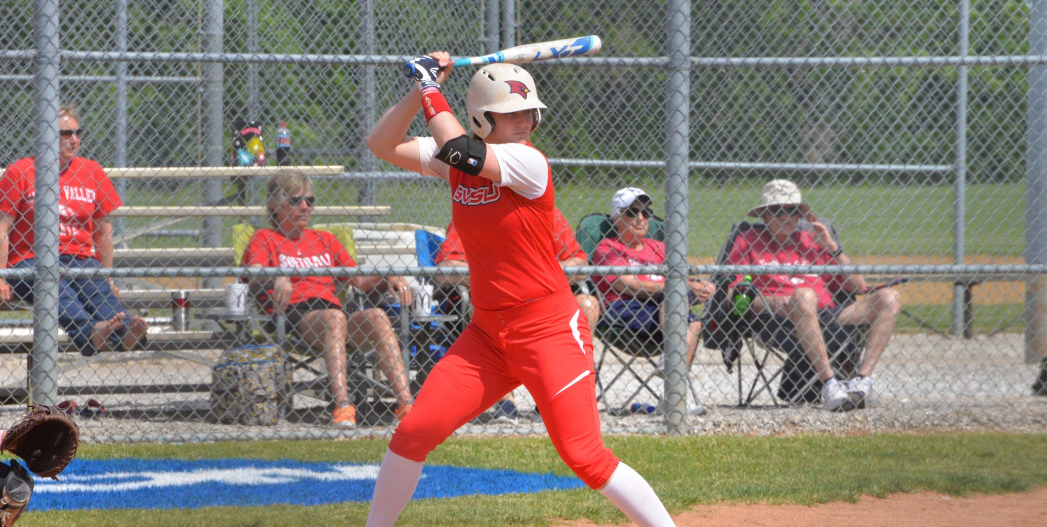 Courtney Reeves drilled a walk-off HR in the 8th inning for the SVSU victory...