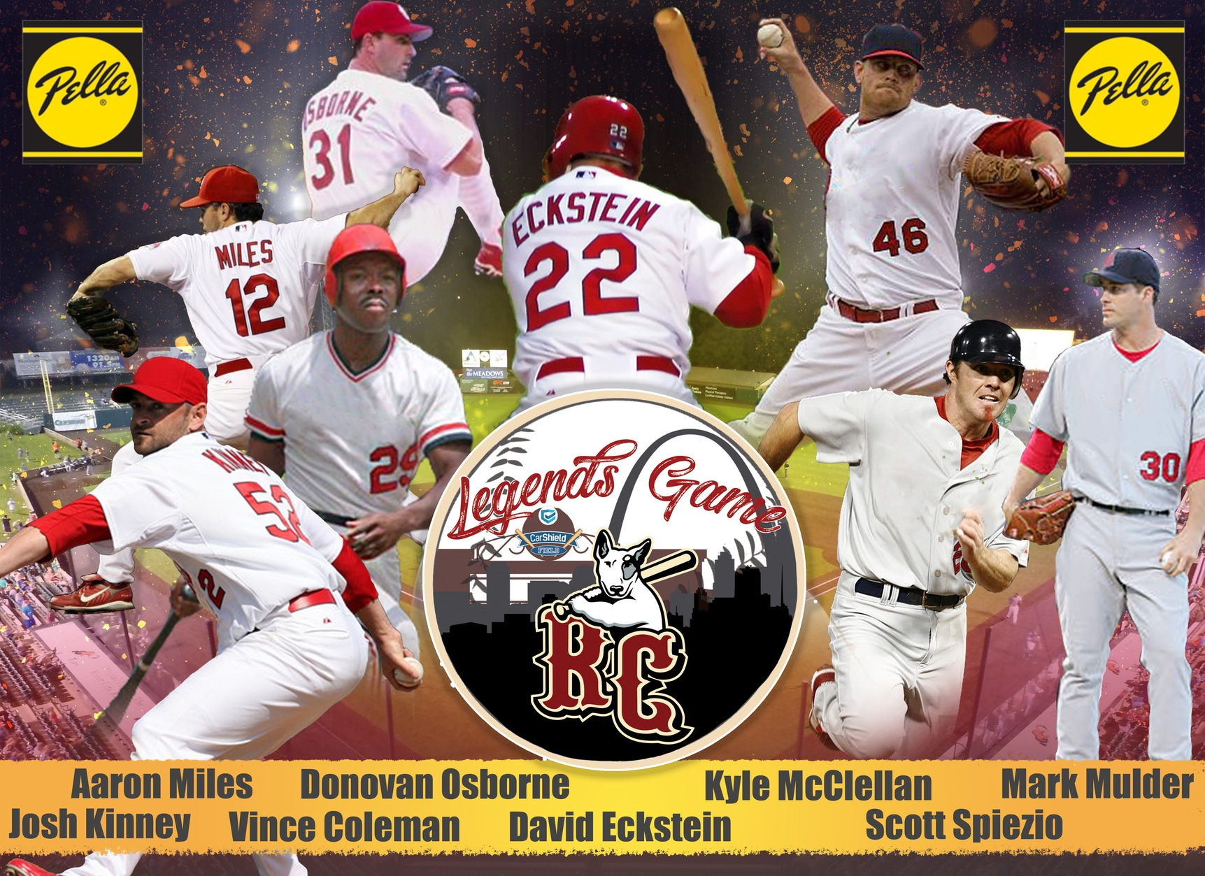 Rosters Released for STL Legends Game