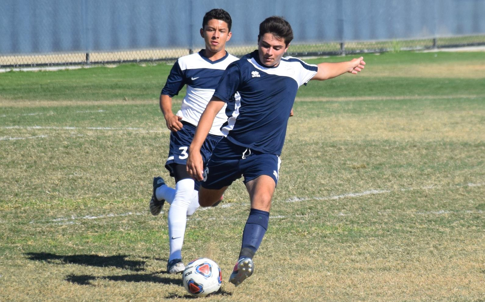 Three second-half goals lift men's soccer team to victory