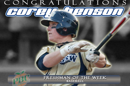Benson named PBC Freshman of the Week