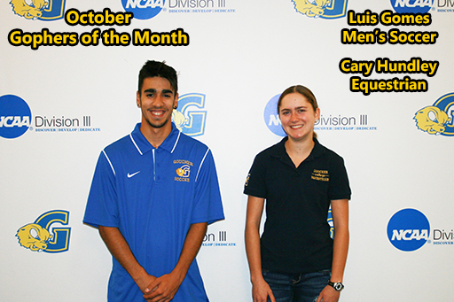 Gomes, Hundley Named October Gophers of the Month