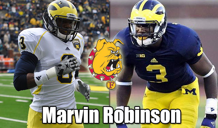 Michigan Transfer Marvin Robinson Latest Addition To Ferris State Football Program