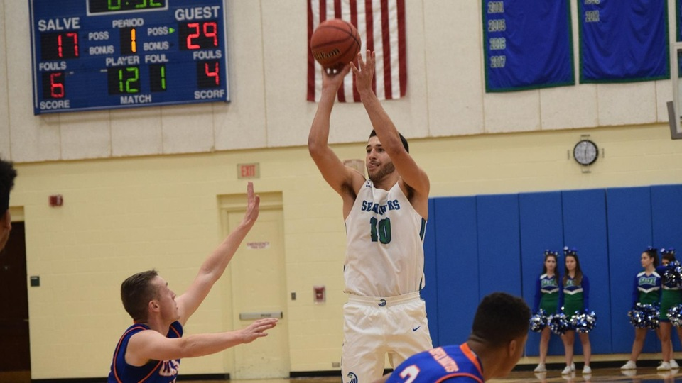 Mikey Spencer led the Seahawks in scoring for the second straight game to start the season; he had 17 points on six of 14 from the floor including three 3-pointers. (Photo by Logan Marsh)