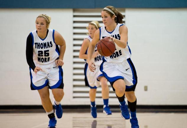 Five Saints Reach Double-Figures and No. 3 Thomas More Defeats Thiel, 127-34, in PAC Tournament