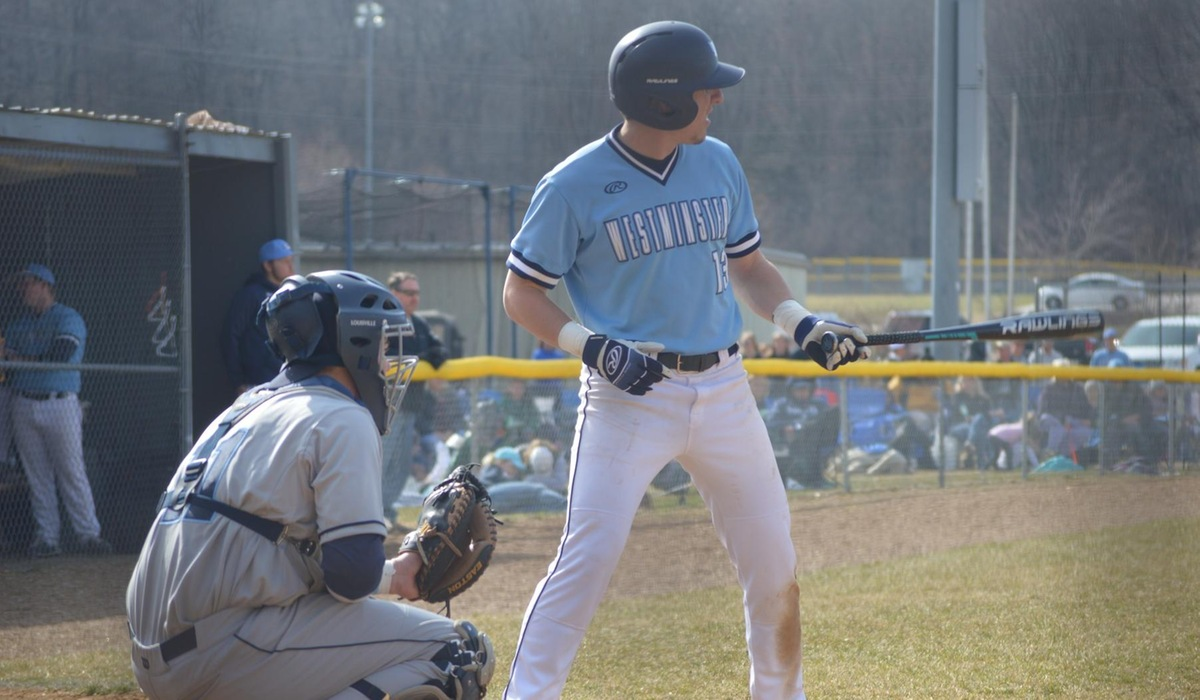 Westminster Baseball Splits With Elmhurst