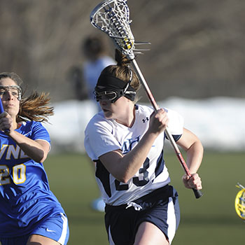 Lacrosse Shoulders NEWMAC Loss at Springfield