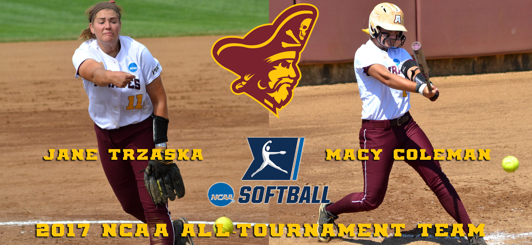 Jane Trzaska, Macy Coleman Earn NCAA All-Tournament Team Honors