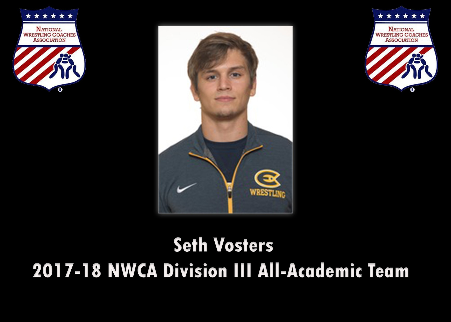 Seth Vosters named to NWCA Division III All-Academic Team
