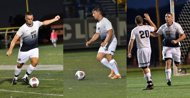 Rouette, Beaulieu & Taylor Named As 2017 Massachusetts Maritime Men's Soccer Tri-Captains