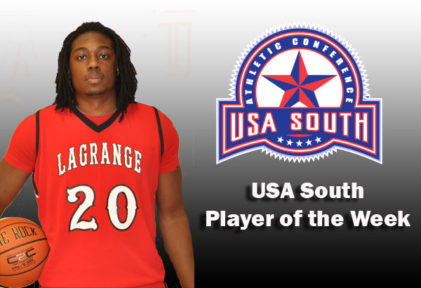 Men's Basketball: Dugger selected as USA South Player of the Week