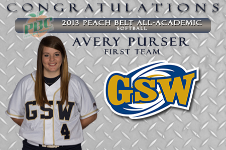Purser Named to Peach Belt Conference Academic Team