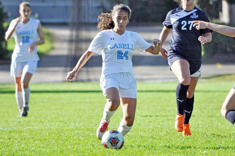 Lasell Women's Soccer defeats Suffolk in GNAC match-up