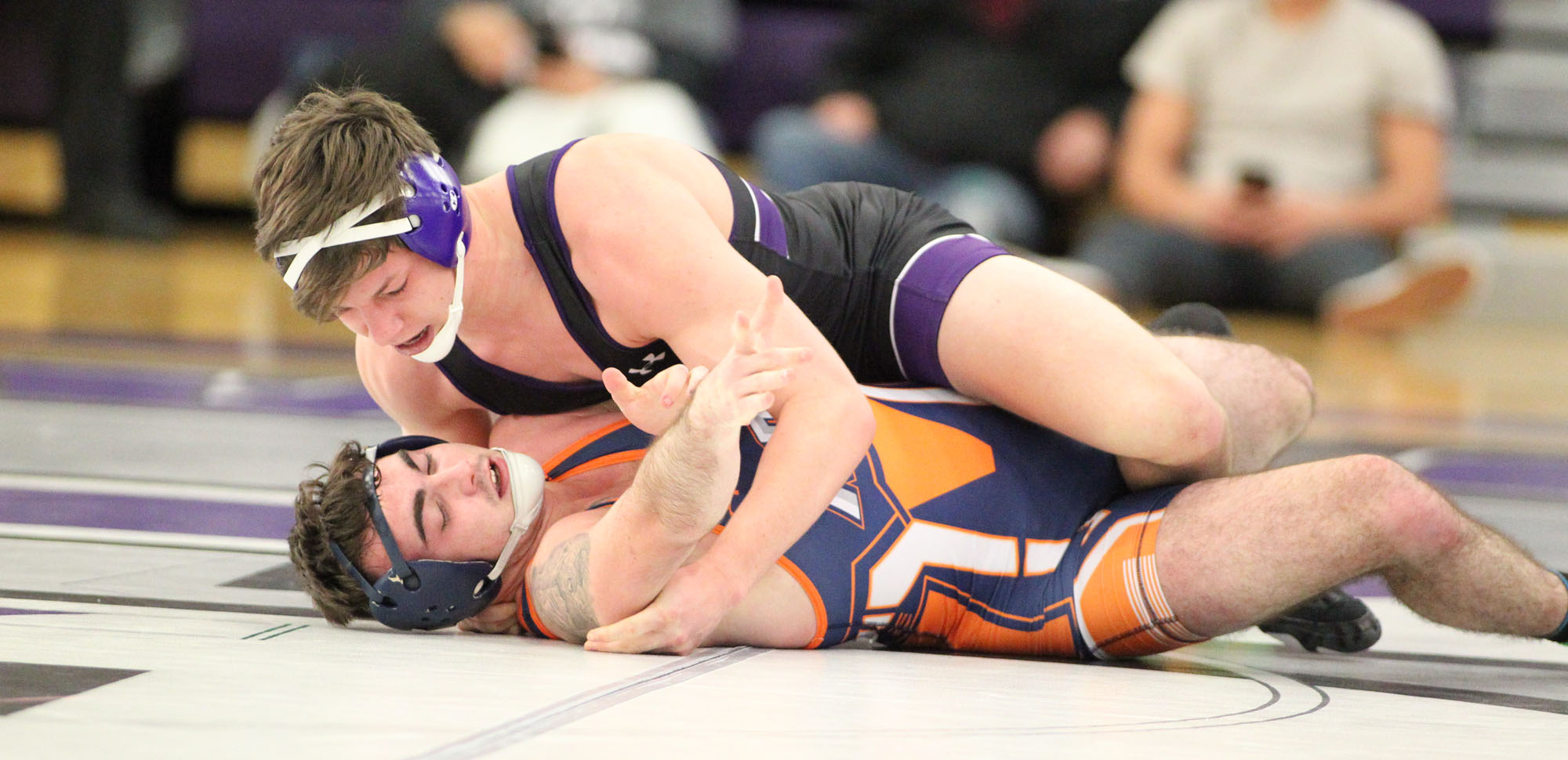 Kyle Shaffer notched a pin at 165 pounds against McDaniel on Sunday.