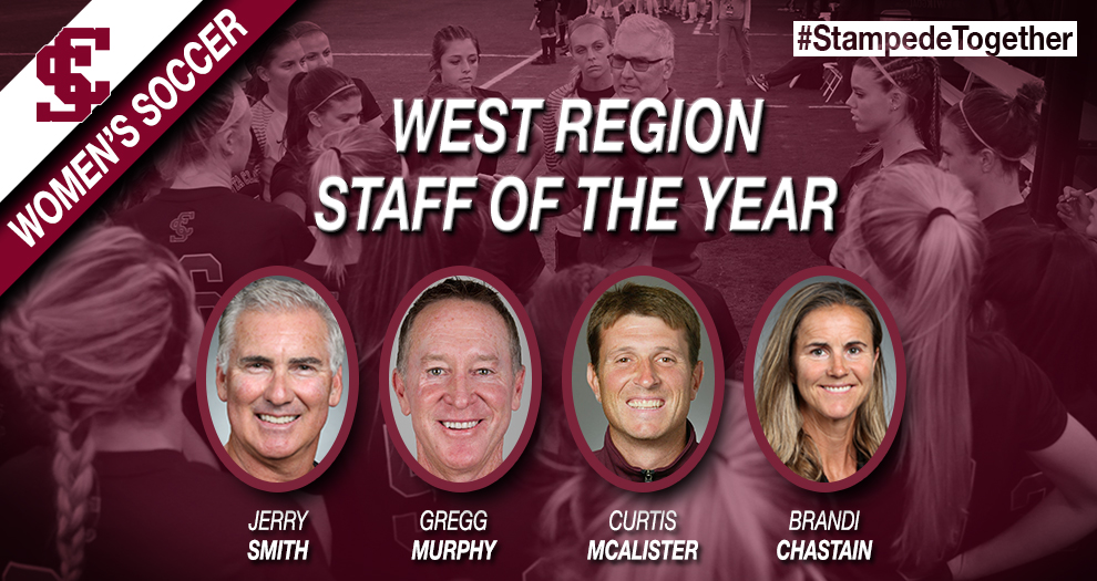 Women's Soccer Coaches Named West Region Staff of the Year