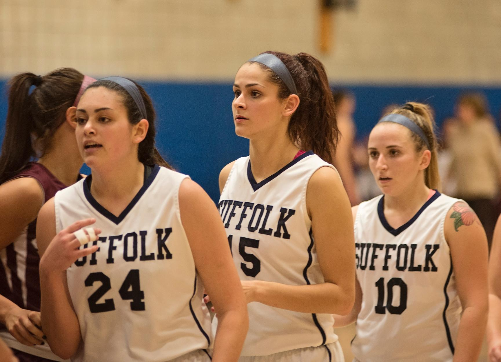 Caramello's Career Night Leads Women's Basketball Past Anna Maria, 73-45
