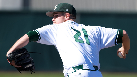 LEITAO LEADS BASEBALL TO 6-0 SHUTOUT OF CHICAGO STATE